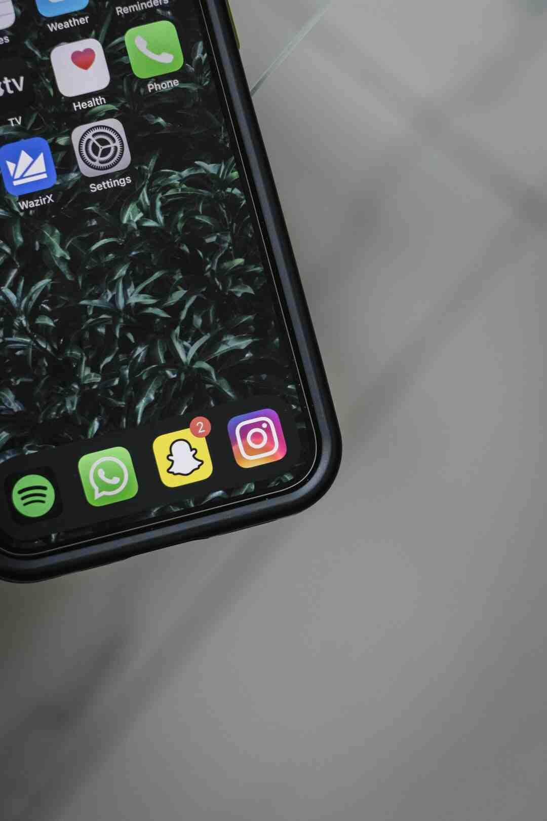 Quel iOS pour Snapchat ?
